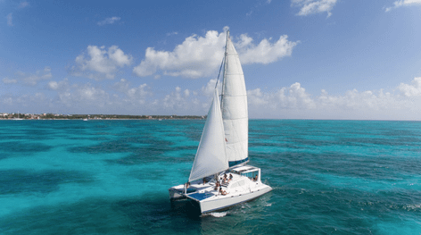 Isla Mujeres Luxury Catamaran Day Trip