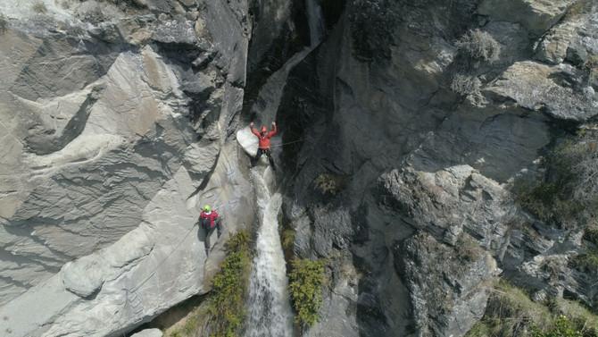 Canyoning Wanaka Waterfall Climb by Helicopter