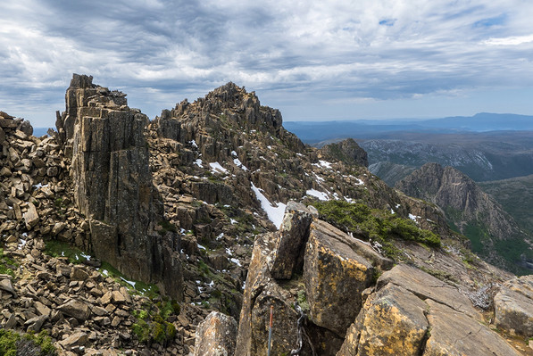 6 Day Cradle-Mountain-Overland Map