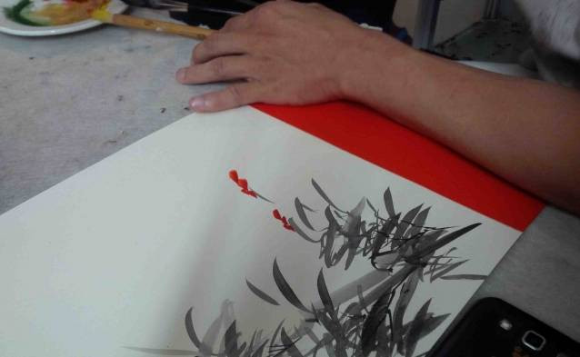 hanoi watercolor drawing