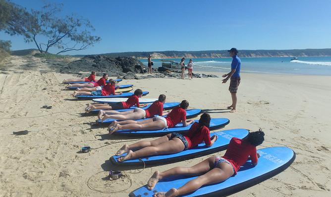 Rainbow Beach surf lessons voucher