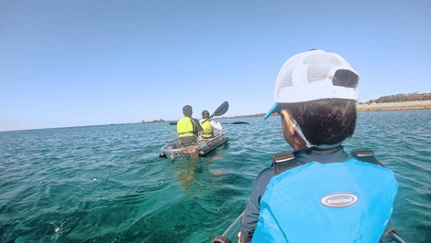Transparent Kayak Tour with Accommodation on an Island in Japan
