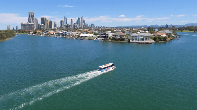 Gold Coast Aquaduck cruise