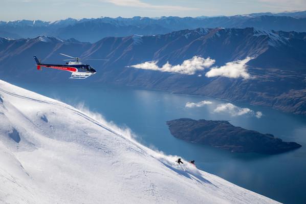 Heli ski new zealand  7 run