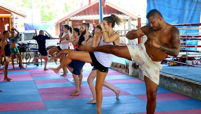 Muay Thai yoga class