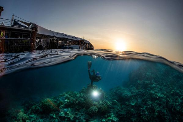 Reef Magic Marine World Sunset