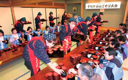 Wanko Soba Feast in Hanamaki City
