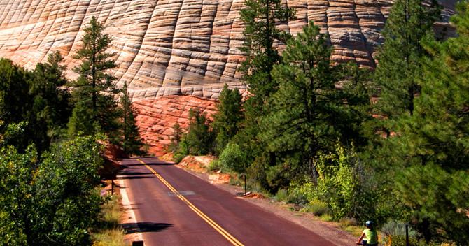 Zion National Park – Checkerboard Mesa