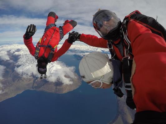 NZONE Skydive Queenstown - Camerman Upside Down.JPG