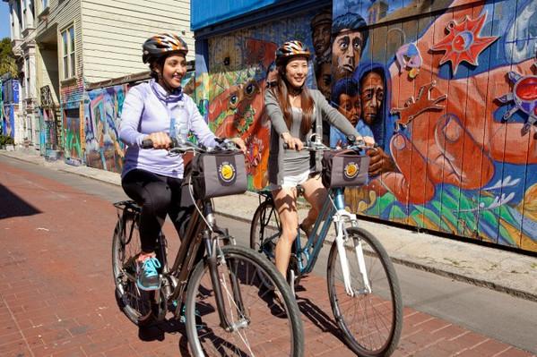 Explore San Francisco by bike
