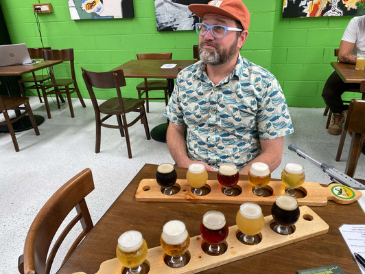 BRISBANE Deliberating over beers at Happy Valley Brewing Co