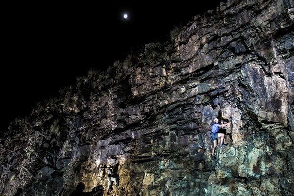 Kangaroo Point Rock Climbing Twilight