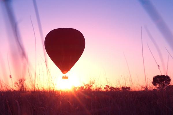 sunrise balloon flight NT