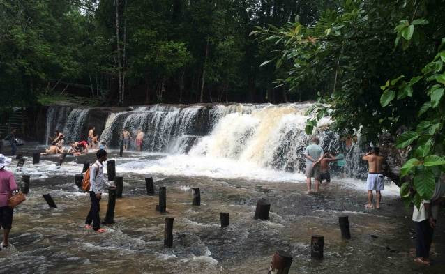 cambodian waterfall